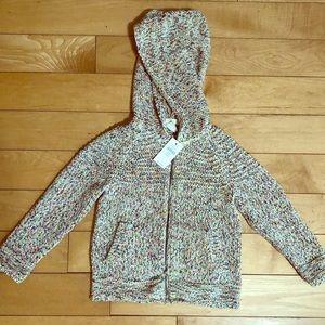 Baby Gap Zip Knit Hooded Sweatshirt 3T